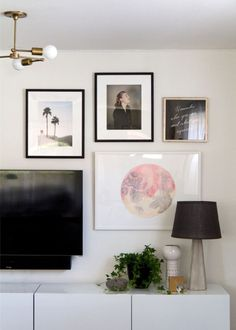 Pretty cool to see one of my watercolor moons (my largest yet) on Anne Sage's gallery wall! I love that there's a meaning behind every piece of art. Head on over to her blog, City Sage, to read about the story/process behind the wall!