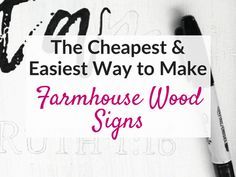 Want to learn how to make easy DIY farmhouse wood signs? Get my tutorial and learn the cheapest and easiest way to make farmhouse signs without stencils! Diy Wood Signs, Rustic Wood Signs, Pallet Signs, Home Renovation, Diy Storage Boxes, Cricut, Diy Wall Art, Wall Decor, Diy Tutorial