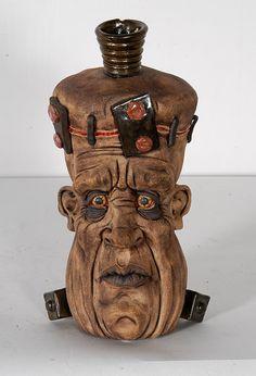 Kevin Turkey Merck. Frankenstein Face Jug. : Lot 31
