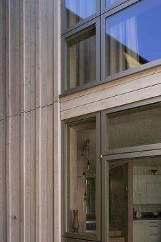aluminium windows coated in anodised bronze