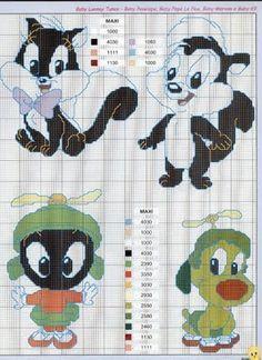 looney tunes free cross stitch pattern