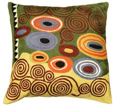 abstract crewel work | ... crewel work in the world. This festive cushion cover belongs in your