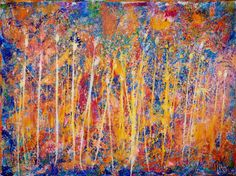 - BOLD STATEMENT PIECE  - SIGNED CERTIFICATE OF AUTHENTICITY - SIGNED CANVAS  NOTE: This Original Fine Artwork Includes a Certificate of Authenticity signed by Nestor Toro to protect your investment in this emerging artist!  Vibrant and very detailed piece with bold color blending, lots of drips and big palette knife strokes...Pretty much everything I love in a painting!!! This painting conveys motion and energy as well as lots of light and fast changes in contrast. Has a very active summer…