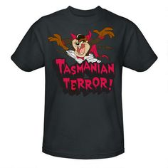 One of my favorite discoveries at WBShop.com: Looney Tunes Taz Terror Gray Adult Tee
