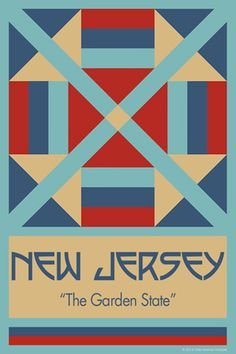 NEW JERSEYquilt block. Ready to sew. Single 4x6 block $4.95.