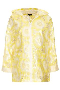Flower Lace Plastic Mac by Topshop