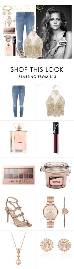 """""""Time To Shine"""" by chloe-simpson ❤ liked on Polyvore featuring Dorothy Perkins, Chanel, NARS Cosmetics, Maybelline, Valentino, Michael Kors, LE VIAN and Nam Cho"""