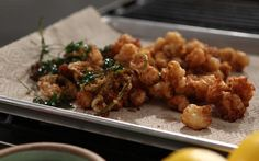Crispy Rock Shrimp with Lime and Coriander Recipe by Michael Symon