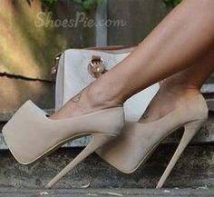 Elegant Suede Platform Heels - Fashion Runway Clothing for Women and Men Stilettos, Stiletto Heels, Hot High Heels, Platform High Heels, Cute Heels, Sexy Heels, Crazy Shoes, Me Too Shoes, Talons Sexy