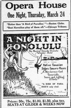 "https://flic.kr/p/uSbvyW | Night in Honolulu - Opera House | Night in Honolulu - Opera House The herald and news., March 18, 1921, Page EIGHT, Image 8 <a href=""http://chroniclingamerica.loc.gov/lccn/sn86063758/1921-03-18/ed-1/seq-8/"" rel=""nofollow"">chroniclingamerica.loc.gov/lccn/sn86063758/1921-03-18/ed-...</a>  Hawaii Digital Newspaper Project <a href=""http://hdnpblog.wordpress.com/"" rel=""nofollow"">hdnpblog.wordpress.com/</a>"