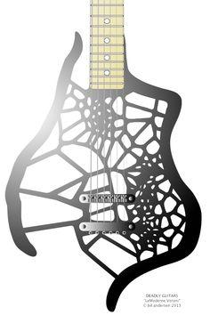 "Deadly Guitars ""LeModerne Voroni"" 2013 prototype - © bil andersen 2013"