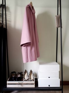 a minute away from snowing: Trust me to find the candy pink coat of my dreams...