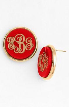 cute monogrammed stud earrings http://rstyle.me/n/vgdx9r9te
