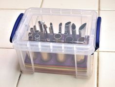 Chris Crossland's mini cutter box. - How to store all of those little cutters we use with polymer clay