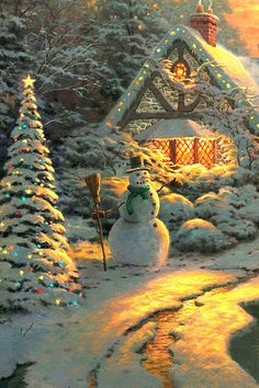 Thomas Kinkade's Christmas at home