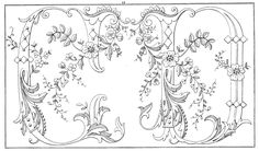 antique motifs | Ornate Vintage Alphabet Motif - C, D
