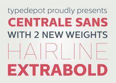 Centrale Sans by Typedepot , via Behance