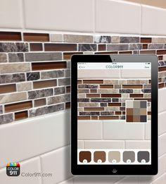 Find a tile you love? Capture the colors and image in your Color911 app! A priceless design tool that the pros rely on! Color911: $3.99 http://apple.co/1MtxpIl #colorapp #Color911