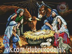 VK is the largest European social network with more than 100 million active users. Religious Cross Stitch Patterns, Childhood Stories, Story Characters, Holy Night, Christmas Cross, Knit Crochet, Embroidery, Drawings, Wall Photos