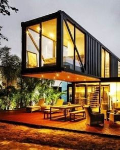 Container House - Shipping container homes utilize the leftover steel boxes used in oversea transportation. Check out the best design ideas here. Who Else Wants Simple Step-By-Step Plans To Design And Build A Container Home From Scratch? Building A Container Home, Container Buildings, Container Architecture, Container House Plans, Container House Design, Architecture Design, Sustainable Architecture, Contemporary Architecture, Chinese Architecture