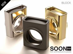 NEW RING BLOCK - available for sale http://www.shapeways.com/model/2991707/block-ring-size-7.html?li=shop-results&materialId=54