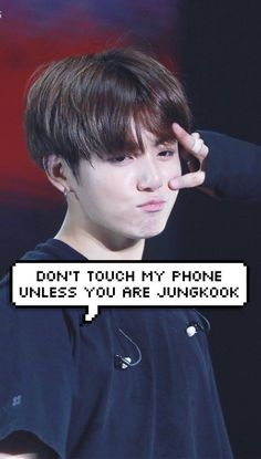 Dont touch my phone unless you are jung kook and get back to work! Jung Kook, Bts Jungkook, Taehyung, Video Simpson, Video Vintage, Bts Wallpaper Lyrics, Wallpaper Quotes, Iphone Wallpaper, Dont Touch My Phone Wallpapers