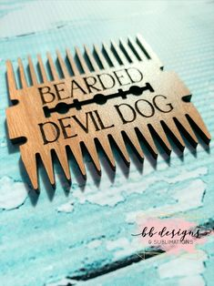 Excited to share this item from my #etsy shop: Custom Engraved Beard Comb | Personalized Beard Grooming Tool | Wooden beard accessory #engraved #custom #personalized #beardcomb Buzz Lightyear Quotes, Beard Accessories, I Sent You, Beard Grooming, Thin Blue Lines, Do Everything, That's Love, Custom Engraving, Groomsmen