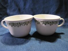 Corningware Coffee or Tea Cups Crazy Daisy / Spring by Teaviant, $6.00