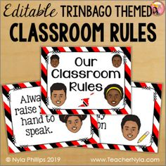 Trinidad and Tobago Themed Classroom Rules - Editable by Nyla's Crafty Teaching