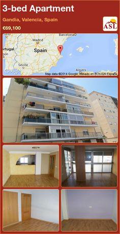 3-bed Apartment in Gandia, Valencia, Spain ►€69,100 #PropertyForSaleInSpain