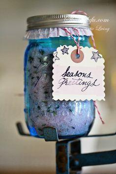 How To Make A Mason Jar Lavender Salt Soak