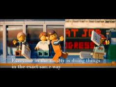 Example of Conformity bias in the Lego Movie Lego Movie, I Movie, Cognitive Bias, Conformity, Everything Is Awesome, Warner Bros, Family Guy, Youtube, Fun