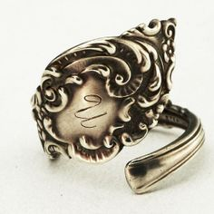 Spoon Ring Unger Victorian Florentine Sterling Silver by Spoonier, $47.00