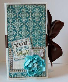 Blue Scrapbook Mini Album for Friend Family or by ArtsyAlbums, $45.00