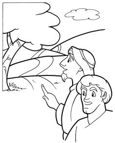 Mark 16:12-13; Luke 24:13-35; The Emma's Disciples; Road to Emmaus Coloring Page
