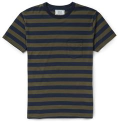 Officine Generale - Striped Cotton-Jersey T-Shirt | MR PORTER