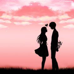 ideas romantic fantasy art couples romances for 2019 Cute Couple Drawings, Cute Couple Art, Love Drawings, Love Cartoon Couple, Anime Love Couple, Cute Anime Couples, Love Wallpapers Romantic, Couple Illustration, Silhouette Art