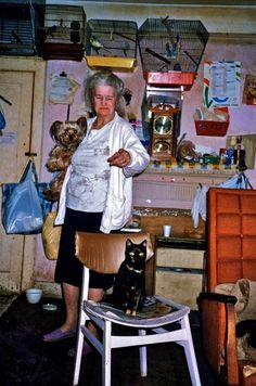 Pauline, Animal Lover, 77 Brick Lane, 16 July 1988. By Clive Murphy.