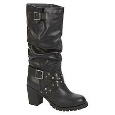 I love these boots so much! They make me a lot taller, and they're so comfortable! I love how the upper part is kinda like textured, so it can hide any pants imperfections underneath! Dream Out Loud by Selena Gomez Women's Boot Floressa - Black | $14.99.
