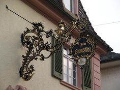 Rastatt, Germany: Poststrasse 12 (Braustub'l): ironwork sign