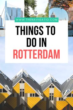 Visiting Rotterdam for the day and unsure about what to do? Check out this guide on how to spend 24 hours in Rotterdam, the Netherlands. Travel Through Europe, Europe Travel Guide, Travel Guides, European Destination, European Travel, Cool Places To Visit, Places To Travel, Travel Destinations, Holiday Destinations