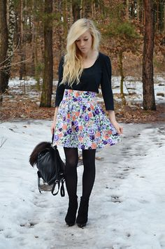 Floral skirt (by Aneta M) http://lookbook.nu/look/3452621-floral-skirt