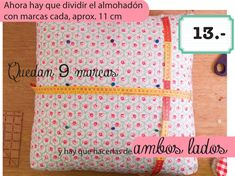 dobleufa: Almohadones acolchados (tutorial) Cushion Tutorial, Diy Cushion, Giant Floor Pillows, Floor Cushions, Fabric Crafts, Sewing Crafts, Sewing Projects, Sewing Pillows, Diy Pillows