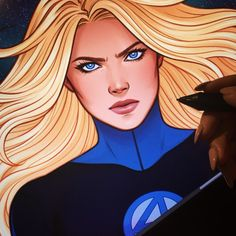 Invisible Woman - Fantastic Four Comic Book Characters, Marvel Characters, Comic Character, Comic Books Art, Book Art, Comic Art, Marvel Women, Marvel Girls, Comics Girls