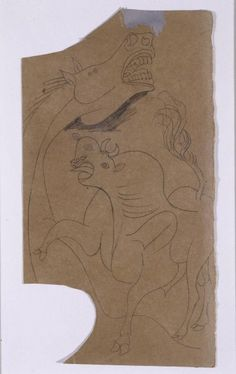 Caballo y toro. Dibujo preparatorio para «Guernica»