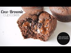 Postres Saludables Cupcakes de Coco Brownie saludables