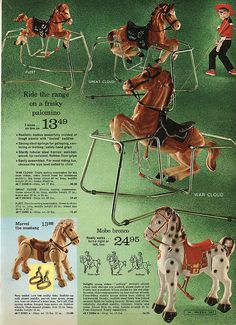 Riding Ponies in Montgomery Ward Christmas Catalog, 1968, by Wishbook, via Flickr