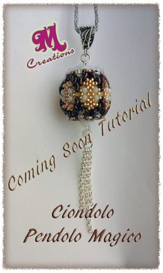 Beaded Beads, Beaded Ornaments, Beads And Wire, Beading Patterns Free, Beaded Jewelry Patterns, Beading Projects, Beading Tutorials, Swarovski, Bead Jewellery