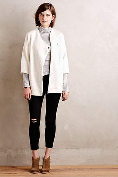Quilted Ivory Jacket - #anthroregistry