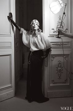 Checking Out: Kate Moss at the Ritz Paris. Vogue. April 2012.
